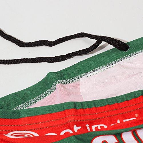 Optimum-Boxer intimo da pesca, colore: verde/rosso, taglia: 38