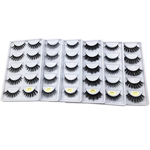5 Pairs 3D Mink Lashes False Eyelashes Natural Makeup Eyelas
