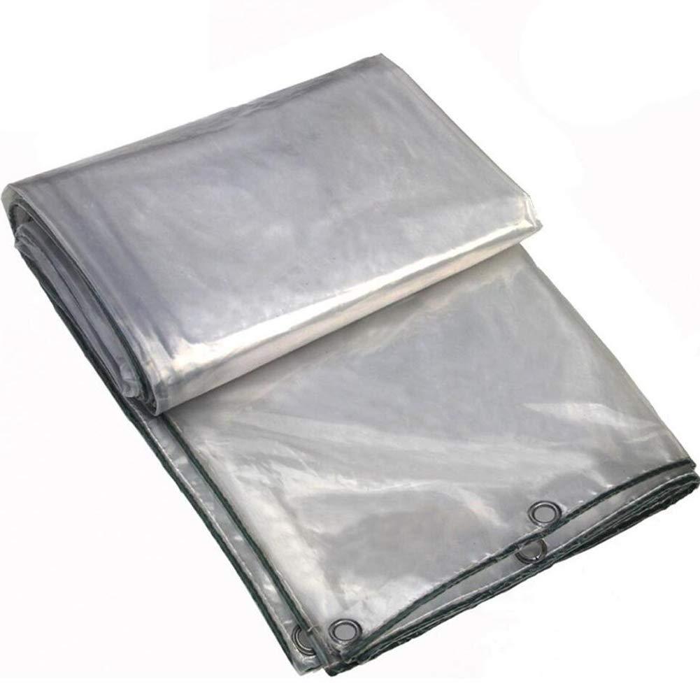 LIXIONG オーニングシェード遮光ネット防雨シェーダ透明な折りたたみ耐摩耗性花保護ネット金属穴ありポリエチレン、27サイズ (色 : クリア, サイズ さいず : 4x8m) 4x8m クリア B07HZ7GBL2
