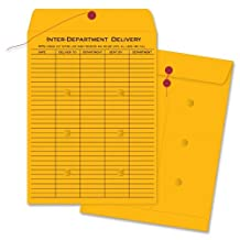 """Business Source - Envelopes, Inter-Dept, Stand, No.32, 10""""x13"""", 100/BX, BKFT, Sold as 1 Box, BSN04545"""