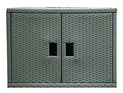 Amazon Wicker Cabinet Outdoor Patio Furniture Essentials Grey