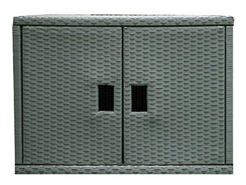 (Wicker Cabinet Outdoor Patio Furniture Essentials Grey by Mspa)