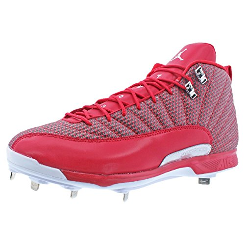 Nike JORDAN XII RETRO METAL mens baseball-shoes 854567-600_14 - GYM RED/WHITE-METALLIC SILVER