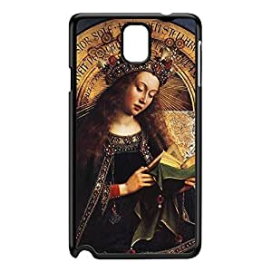 The Ghent Altarpiece - Virgin Mary by Jan van Eyck Black Hard Plastic Case for Galaxy Note 3 by Painting Masterpieces + FREE Crystal Clear Screen Protector