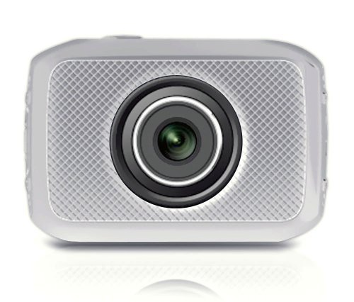 Pyle PSCHD30SL Mini High-Definition Sports Action Wide-Angle HD Camera & Camcorder 720p SD Card Slot Touchscreen (Silver) [並行輸入品]   B075576RMF
