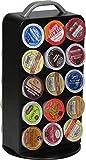 Surpahs ZEKH-300 30 Pod Capacity Metal K-cup Coffee Pods Storage Carousel Tower, Black