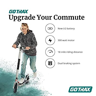GOTRAX XR Ultra Electric Scooter, LG Battery 36V/7.0AH Up to 18 Miles Long-range, Powerful 300W Motor & 15.5 MPH, UL Certified Adult E-Scooter for Commuter (Purple) : Sports & Outdoors