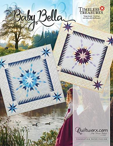 Baby Quilt Paper - Baby Bella Quilt Pattern 36 x 36~Foundation Paper Piecing Pattern by Judy Niemeyer of Quiltworx