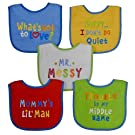 Neat Solutions Attitude Bib Set, Boy, 5 Count
