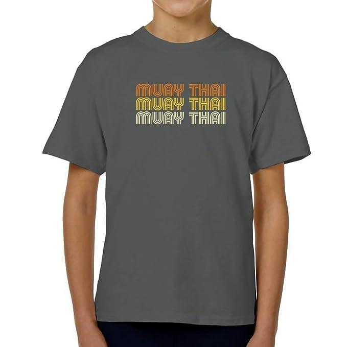 Teeburon Muay Thai RETRO COLOR Camiseta Niño