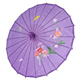 Japanese Chinese Umbrella Parasol 32in Purple 156-10 by JapanBargain