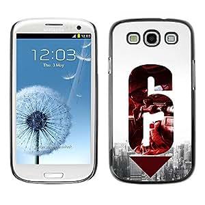 Caucho caso de Shell duro de la cubierta de accesorios de protección BY RAYDREAMMM - Samsung Galaxy S3 I9300 - 6 Gun