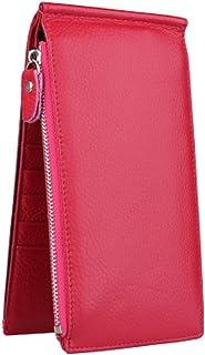 Sac de carte de crédit porte-monnaie avec 18 fentes de cartes, Rose Rouge Blancho Bedding