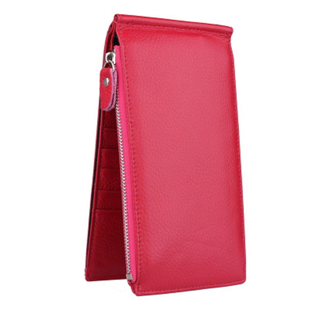 Cartes Accessoires Sac de carte de crédit porte-monnaie avec 18 fentes de cartes Rose Rouge Blancho Bedding