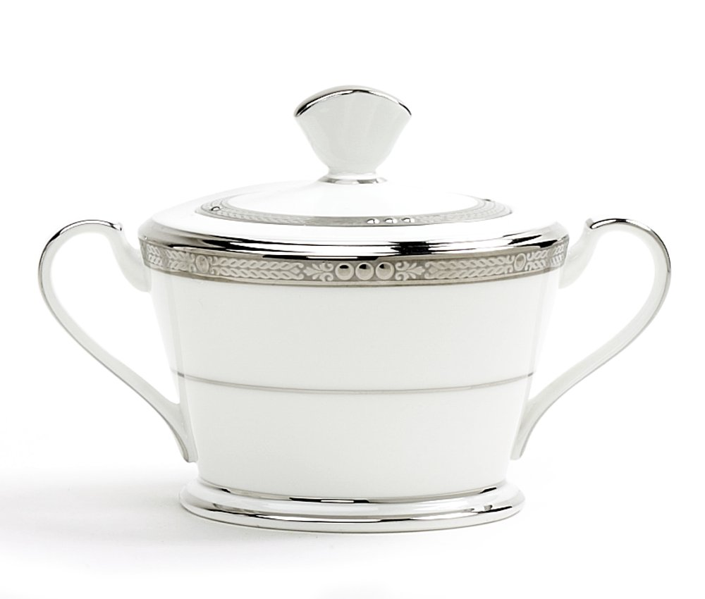 Noritake Chatelaine Platinum Sugar Bowl with Cover