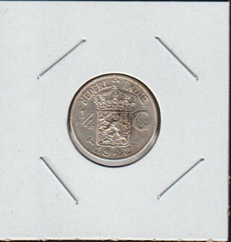 1942 NL Crowned Arms Divide Value Quarter Choice About Uncirculated Details