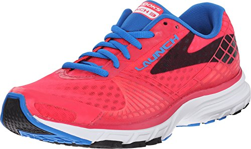Brooks Women's Launch 3 Myla Pink/Electric Blue Lemonade/Black Sneaker 6 B (M)
