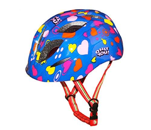 Kid's Cycling Bike Helmet Road Mountain Racing Rollerblading Skate Inline Skating Helmets for Children--Blue