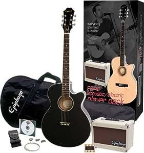Epiphone PR-4E Acoustic-Electric Guitar Player Pack Ebony