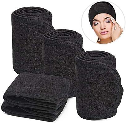 2 Pieces Beauty Salon Makeup Headband Yoga Sweat Absorbent Cotton Hair Wrap