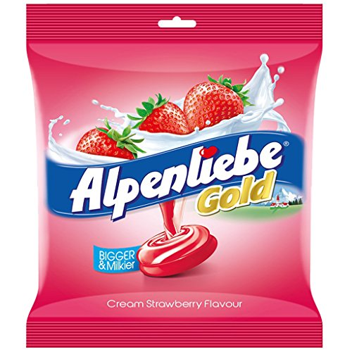 Alpenliebe Gold Candy, Cream Strawberry Flavour, 380g (100 pieces)