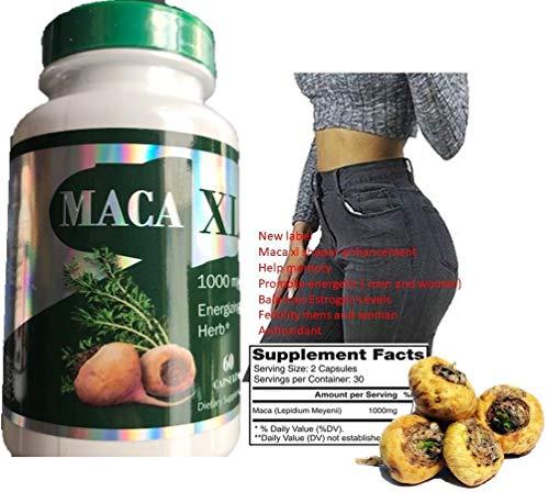 Maca XL 60 Capsules Original Pill Super maca Shape Buttocks Bigger Butt Booty Shaper