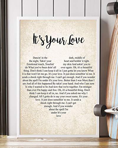Mattata It's Your Love Lyrics Poster Print (12