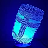 Blue Stones Fortnite Game Chug Jug 3D Lamp Light RGBW Changeable Mood Lamp 7 Colors Light Base Cool Night Light for Birthday
