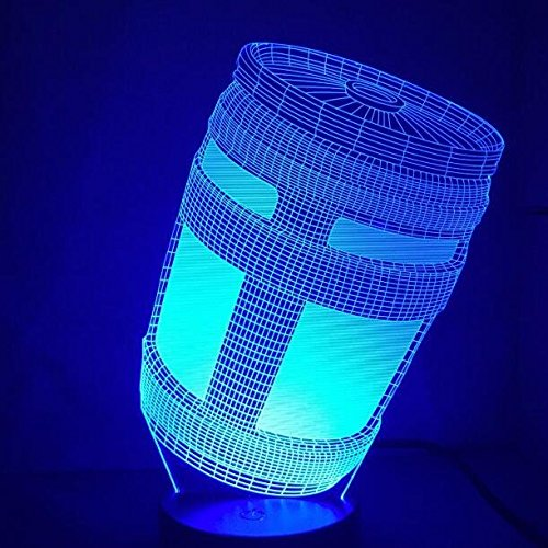 Blue Stones Fortnite Game Chug Jug 3D Lamp Light RGBW Changeable Mood Lamp 7 Colors Light Base Cool Night Light for Birthday by Blue Stones