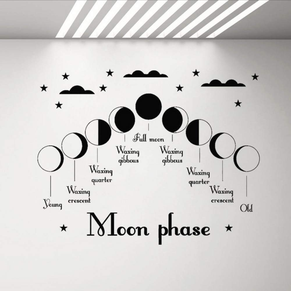 Wymw Fase Lunar Vinilo Tatuajes De Pared Dormitorio Sala De Estar ...