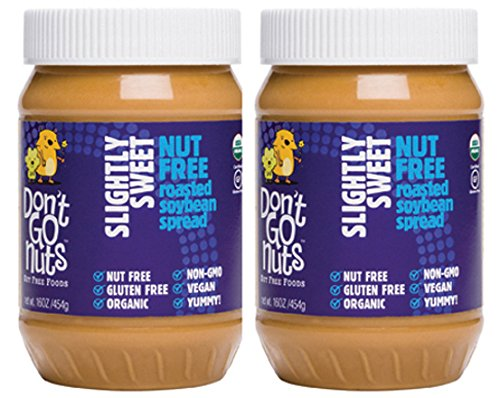 Price comparison product image Don't Go Nuts Nut-Free Organic Roasted Soybean Spread,  Slightly Sweet,  2 Count