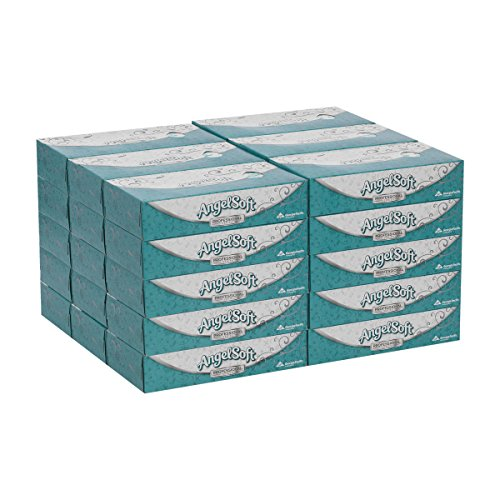 - Angel Soft Professional Series Premium 2-Ply Facial Tissue by GP PRO (Georgia-Pacific), Flat Box, 48580, 100 Sheets Per Box, 30 Boxes Per Case