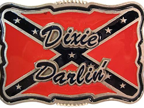 Dixie Darlin' Belt Buckle, 3.5 x 2.5 Inches