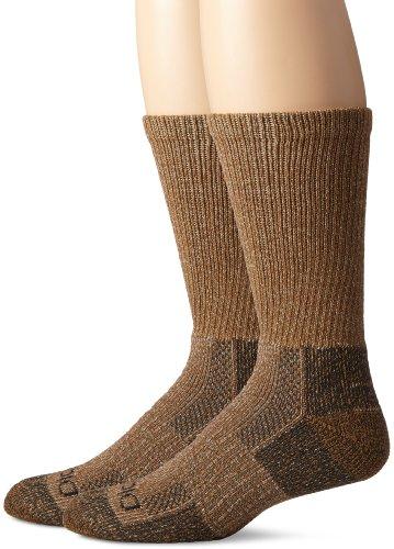 Dickies Men's 2 Pack Steel Toe Moisture Control Crew Socks, Duck Marl, Sock Size:10-13/Shoe Size: 6-12