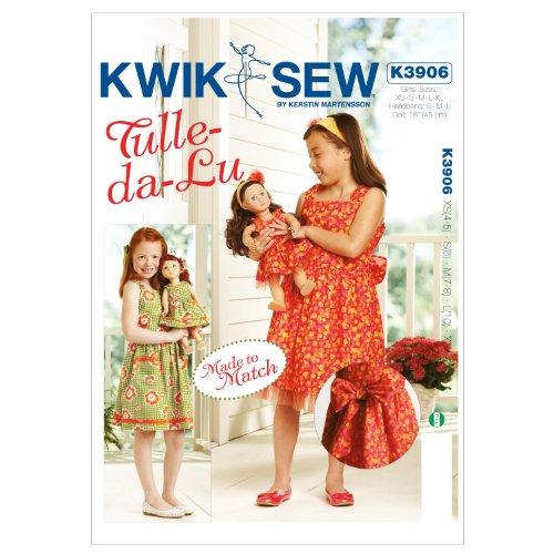 Mccall Pattern Kwik Sew K3906 Tulle-Da-Lu Made to Match D...
