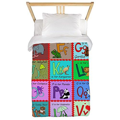 (CafePress Alphabet Soup Creations Twin Duvet Twin Duvet Cover, Printed Comforter Cover, Unique Bedding, Microfiber )