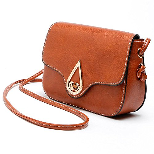 TOPUNDER Fashionable Shoulder for CrossBody Bags Leather Casual by Handbags Bag Yellow Women D Mini Girls wSYnFxfOqx