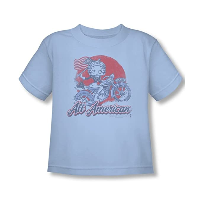 Betty Boop All American Betty Blue Toddler T-shirt Size 2T 3T /& 4T