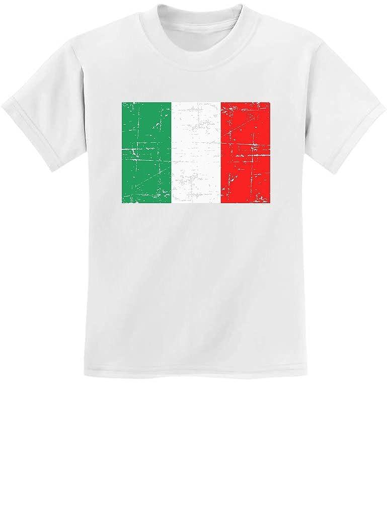 TeeStars Vintage Italy Flag Retro Italian Style Youth Kids T-Shirt