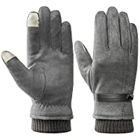 Mens Winter Gloves Warm Touchscreen - Acdyion Fashion Lined Thick Soft Windproof Warm Gloves