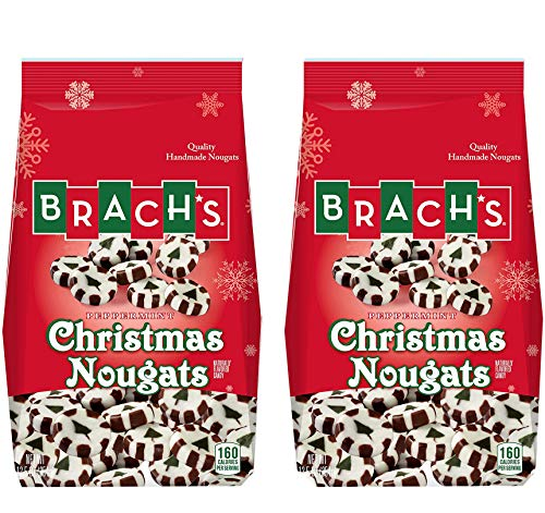 Brach's Christmas Candy Peppermint Nougats Mints for Xmas Best Value Pack Boys Girls Men Women - Perfect Sweet Gift for Holiday Parties Events - 2 Pack ()