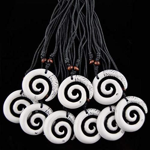 (Lot 12pcs Cool Hook Maori The Koru Pendant Necklace)