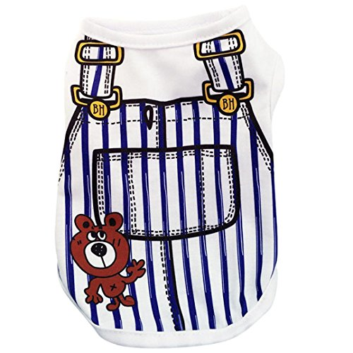 Howstar Pet Shirts Super Cute Puppy Vest Tank Tops Dogs Summer Shirt Soft Sweatshirt (XS, Dark (X-small Dog Clothing)