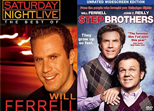 Will Ferrell Comedy Bundle: SNL Collection The Best Of Will Ferrell Vol 1 & Step Brothers (John C Reilly & Mark Wahlberg)