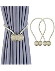 Magnetic Curtain Tiebacks Drapery Holdbacks for Curtains, Drapes, Living Room Office Decor, No Tools Required