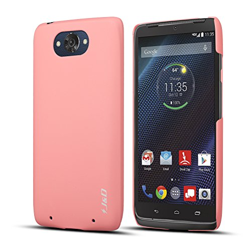 Moto Droid Turbo Case, J&D [Ultra Slim] Moto Droid Turbo Case [Slim Fit] Smooth Protective Case for Moto Droid Turbo (NOT Compatible with Ballistic Nylon Version) (Pink)