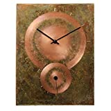 Cheap Copper Rectangle Rustic Large Wall Clock 14-inch – Silent Non Ticking Gift for Home/Office/Kitchen/Bedroom/Living Room
