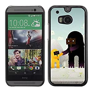 Colorful Printed Hard Protective Back Case Cover Shell Skin for All New HTC One (M8) ( Cute Characters )