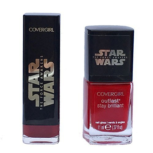 Covergirl Star Wars Red Lipstick and Nail Polish Bundle 2 Items