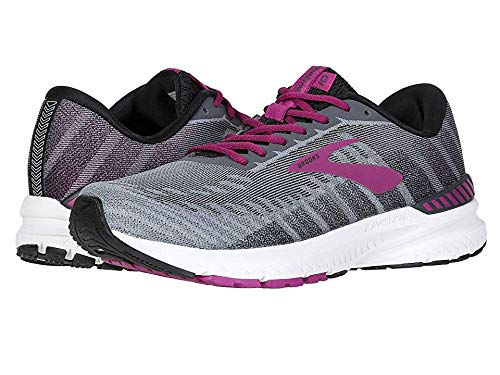 (Brooks Women's Ravenna 10 Ebony/Black/Wild Aster 8 B US)